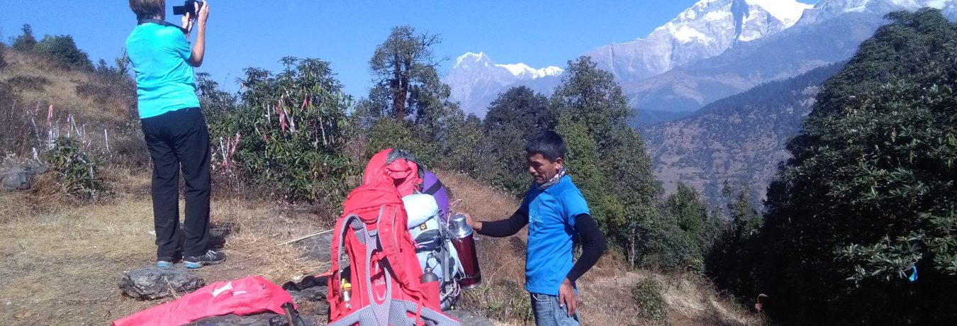 Porter and Guide in Nepal
