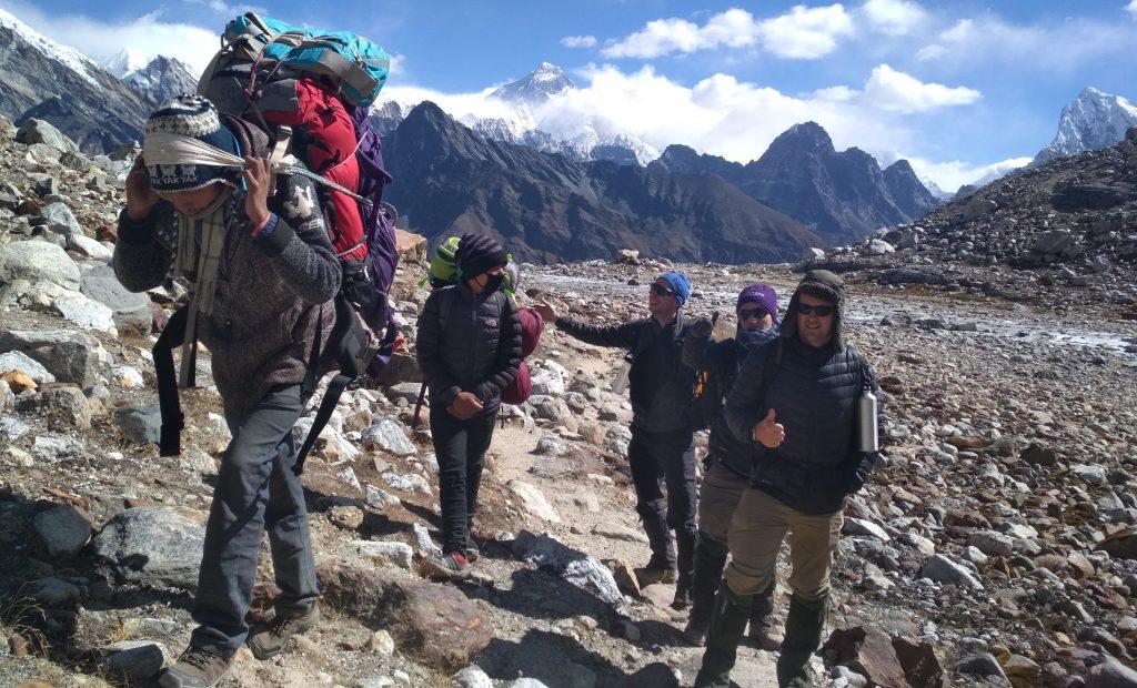 Everest three pass porter