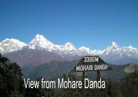 Annapurna panorama from Mohare Danda