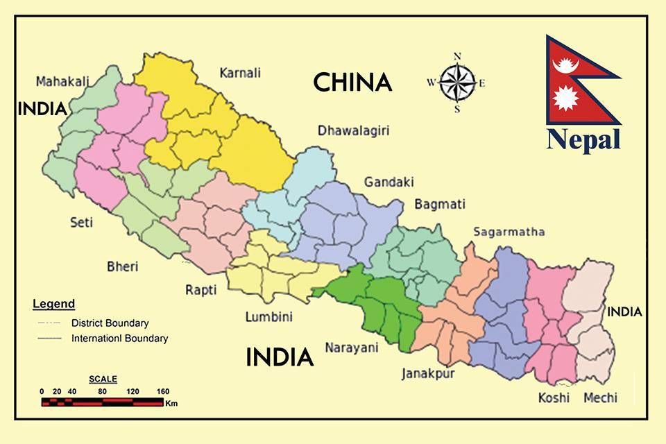 尼泊爾地圖
